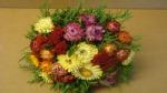Trockenblumenstrauß mit Strohblumen diy