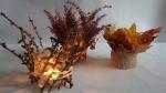Tischdekoration selber machen flower arrangement Herbstdeko