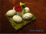 Osterdeko Ostereier bemalen flora-shop.eu