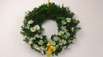 Frühlingsdeko Türkranz mit Kunstblumen - Floristik Anleitung