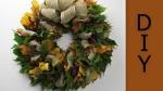 Herbstkranz mit Laubblätter und Kastanien binden ❁ Deko Ideen mit Flora-Shop