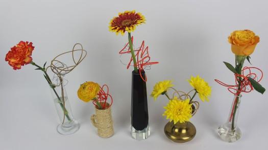 Lustige Blumendeko mit Peddigrohr selber machen ❁ Deko Ideen mit Flora-Shop