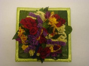 Blumenfries aus frische Blumen