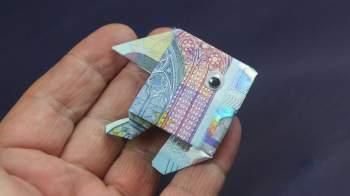 Geld falten ❁ Fisch aus Geldschein falten ❁ Deko Ideen mit Flora-Shop
