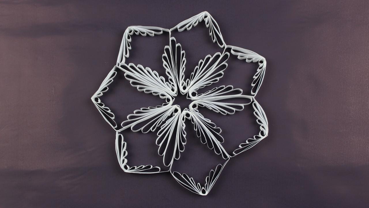 schneeflocken f r die weihnachtsdeko sterne aus papier. Black Bedroom Furniture Sets. Home Design Ideas