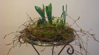 FrühlingsdekoIdeen Raumdekoration mit Blumen