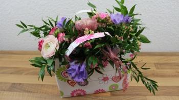 Blumen Tasche Geschenk für den Muttertag ❁ Deko Ideen mit Flora-Shop