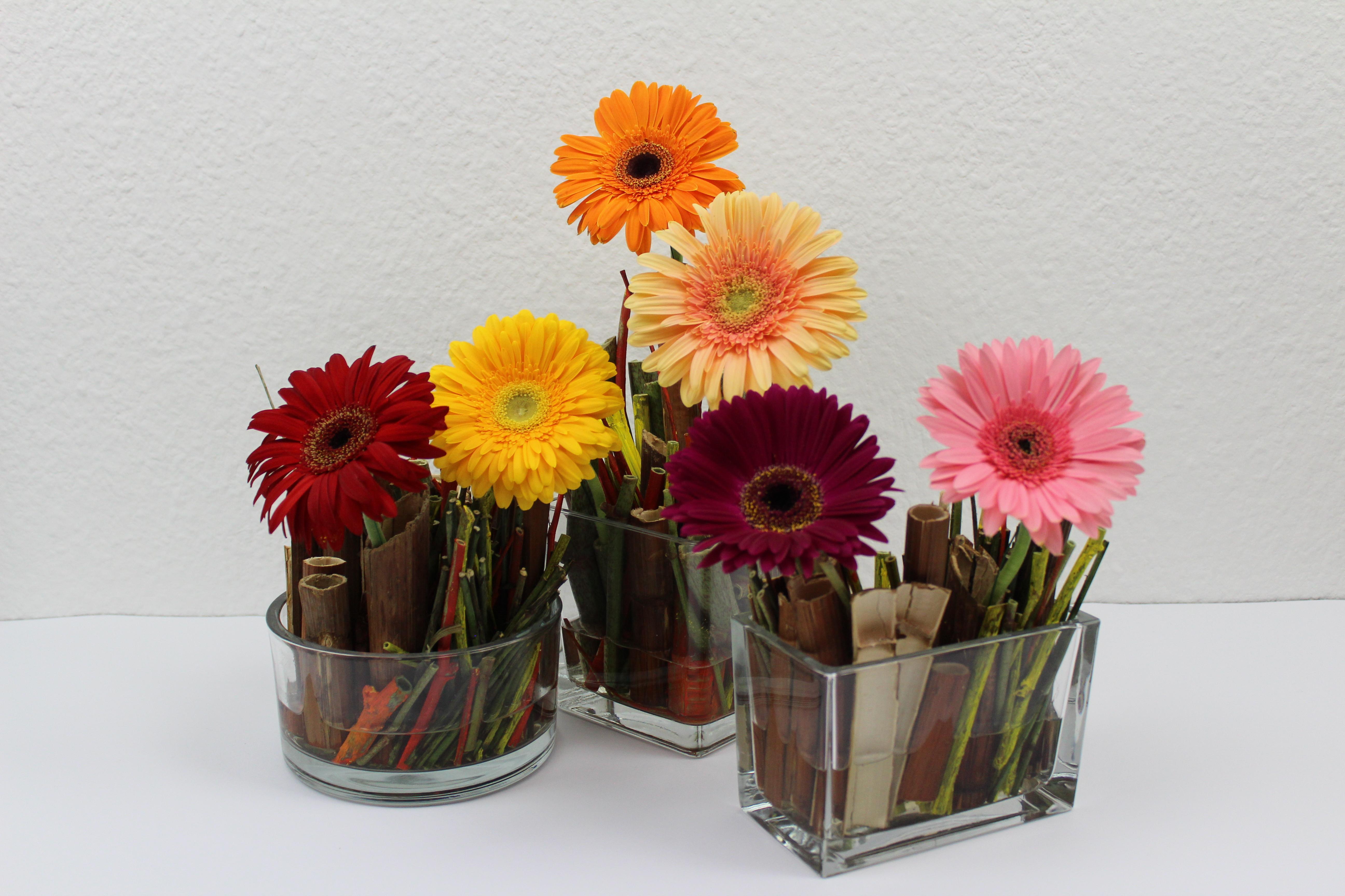 tischdeko festlich rustikal mit gerbera flora. Black Bedroom Furniture Sets. Home Design Ideas