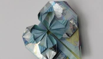 Geld Falten Würfel Aus Geldscheine Basteln Deko Ideen Mit