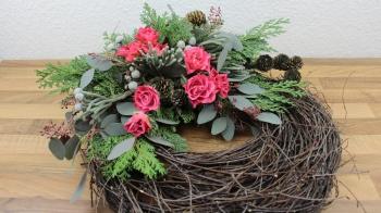 Allerheiligengesteck mit gewachste Rosen selber machen ❁ Deko Ideen mit Flora-Shop