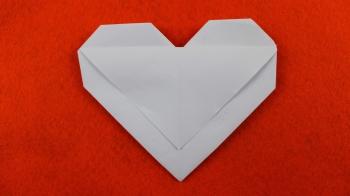Origami Umschlag Herz
