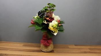 Silvester Blumenstrauß für die Silvesterparty als Mitbringsel, meine Geschenkidee zum selber machen.