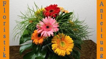 Floristik Anleitung ❁ Blumenstrauß mit Gerbera binden ❁ Deko Ideen mit Flora-Shop