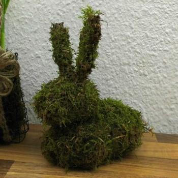 Deko Idee für Ostern ❁ ein Osterhase aus Moos selber basteln