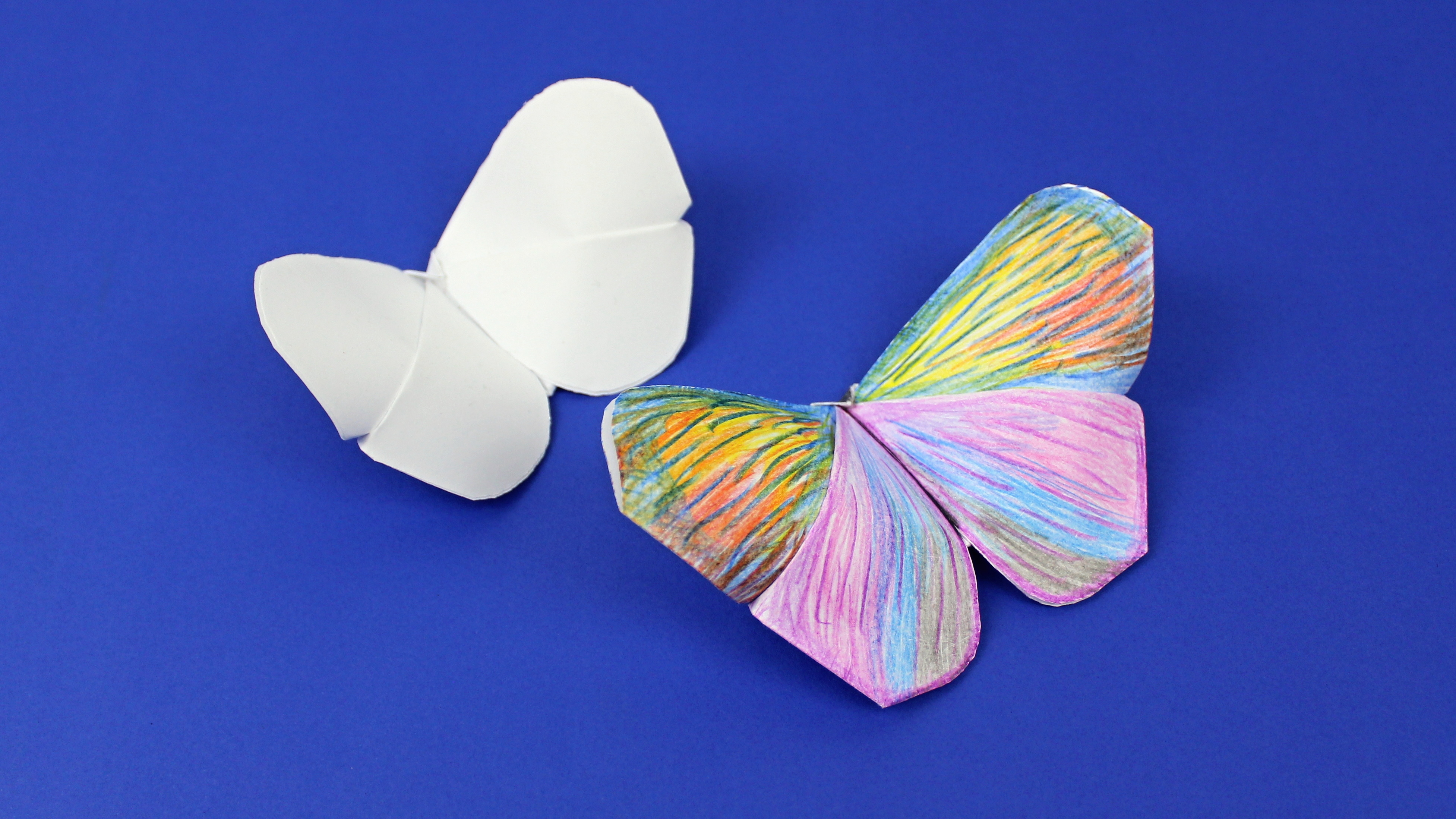 Origami Schmetterling aus Papier falten