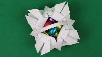 Stilvolles Osterkörbchen aus Papier falten