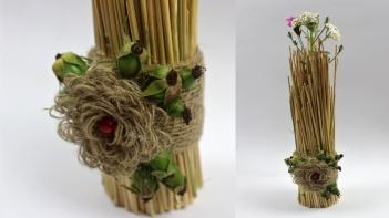 Dekoration basteln ❁ Bündel aus Stroh ❁ Deko Ideen mit Flora-Shop